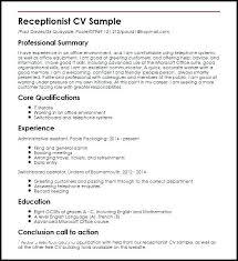 Resume Job Description Cool Receptionist Job Description Resume Tommybanks