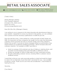 Cover Letter For A Customer Service Job Retail Sales Associate Cover Letter Example Tips Resume