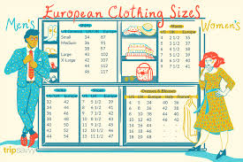 International Clothing Size Chart Small Medium Large European Clothing Sizes And Size Conversions