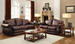 Living Room With Brown Leather Sofa Brown Leather Sofa With Impressive Interior Layout Traba Homes