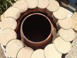 top view of homemade tandoor