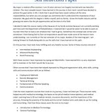 reflection paper example format self assessment and reflection   reflective essay examples best reflective essay self reflection paper example