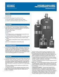 Ansul Nozzle Chart Sapphire Clean Agent Fire Suppression Systems
