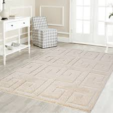 platinum area rug contemporary greek key pattern 5 2 x 7 2 contemporary area rugs by la wiola decor inc