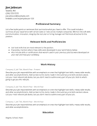 Hybrid Resume Template 11 Jobscan Blog