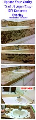 Thinset Concrete Countertops Diy Concrete Counter Overlay Vanity Makeover