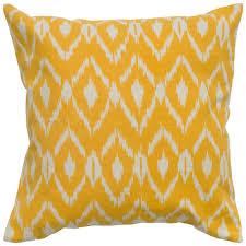 amazoncom ikat pillow color mustard home  kitchen
