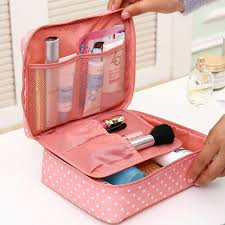 portable toiletry cosmetic bag waterproof makeup make up wash organizer storage pouch travel kit bag hand brand large capacity