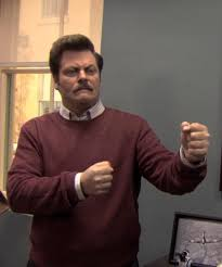 Ron Swanson Chart Of Manliness Ron Swanson Manly Blank Template Imgflip