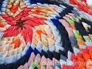 Коврики из лоскутков ткани видео треугольники