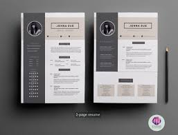page resume template cover letter template by chic templates 2 page resume template cover letter template