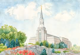 lds temple original paintings