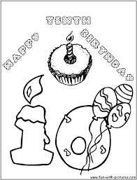 Happy Birthday Coloring Pages   Clipart Panda - Free Clipart Images