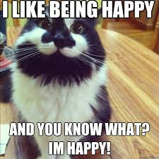 Overly Happy Cat memes | quickmeme via Relatably.com
