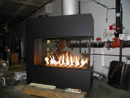 3 sided montigo fireplace in black
