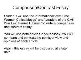writing portfolio mr butner writing portfolio due date comparison contrast essay students will use the informational texts the w called moses and leaders