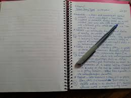 on writing types of short stories awaiting the muse a notebook and pen