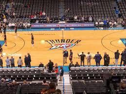 Oklahoma Thunder Arena Seating Chart Chesapeake Energy Arena Seating Chart Seatgeek