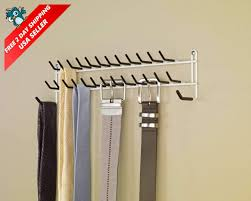 accessories for both inside and outside the closet these accessories create storage solutions for many places in your home the 27 hook tie belt rack