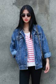 Image result for oversized womens jean jacket