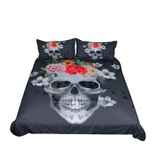 flame skull bedding set duvet cover with pillowcases covers uk and