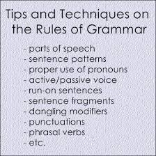 Grammar Tips Tips And Techniques On The Rules Of Grammar Ielts Exams