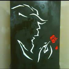 beauty and the beast painting done for me as a gift