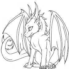 Small Picture Coloring Page Realistic Dragon Coloring Pages Coloring Page and