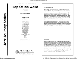 Big Band Guitar Charts Jarvis Bop Of The World Sheet Music Complete Collection For Jazz Band