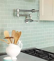 kitchen backsplash glass tile green. Tranquil Scene Blue-green Glass Subway Tiles Give Off A Tranquil Air In  This Kitchen. The Subtle White Grout Lines The Additio. Kitchen Backsplash Tile Green T