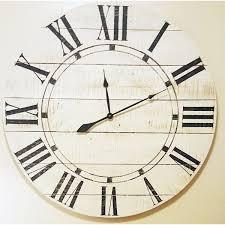 sharea com oversized farmhouse wall clock
