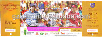 Football Game Ticket Printed With Scratch Cinema Ticket Printing
