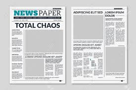 Creative Newspaper Template Newspaper Template Column Articles Newsprint Background Pressed