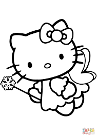 Small Picture Hello Kitty Fairy coloring page Free Printable Coloring Pages