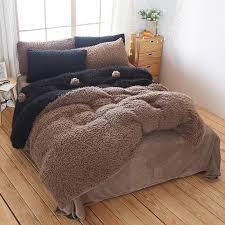 papa mima blue and brown winter thick velvet bedlinens queen size bedding sets duvet cover bed sheet pillowcases pink duvet covers duvet from stunning88
