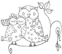 Valentine Owl Coloring Page Design For Day Pages Adult Heart Love C