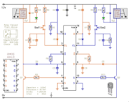 two interlocked toggle switches cmos 4013 schematic diagram of a dual toggle switch circuit