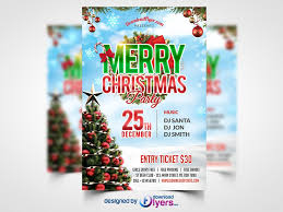 Free Christmas Flyer Templates Download Christmas Party Flyer Free Psd Template Party Flyer Free