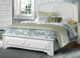 allamerican hamiltonfranklin queen panel storage bed in snow white