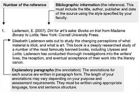 Sample annotated bibliography apa