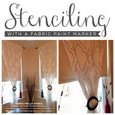 cutting edge stencils shares adiy stenciled dining room curtains with the sophia trellis stencil and a