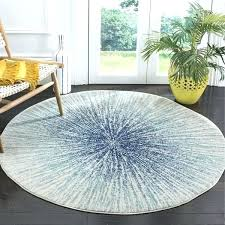 evoke grey ivory rug elegant round on vintage abstract burst royal blue watercolor damask safavieh