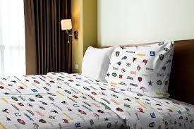8pc nfl twin bedding set afc vs nfc comforter sham multiple football team sheets