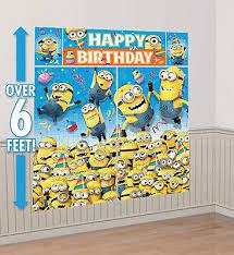 deable me photo backdrop birthday party wall decor scene setter gru s minion