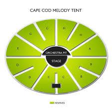 Seating Chart Cape Cod Melody Tent Vivid Seats