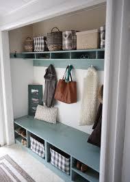 closet room. #BEHRBOX Mudroom In A Closet Room