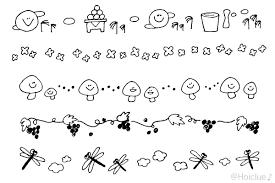 9月のイラストおたよりカットライン挿し絵 イラスト 秋イラスト