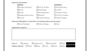 Employee Termination Form Template Stagingusasport Info