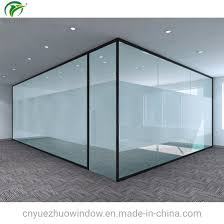 china office clear glass partition cost