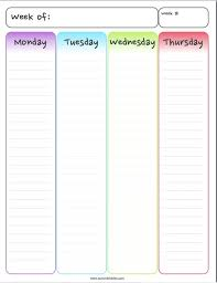 Week At A Glance Form Homeschool Planners And Free Weekly Calendars ...